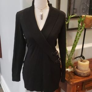 EUC Black INC Sweater with buckle detail